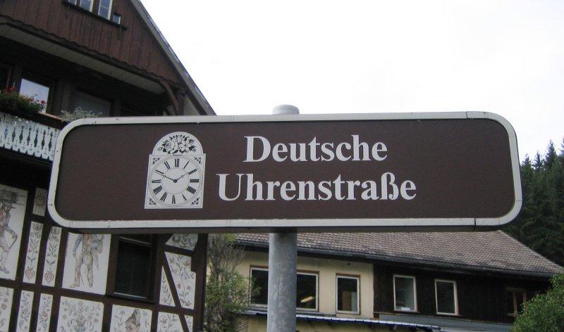Schild Deustche Uhrenstraße