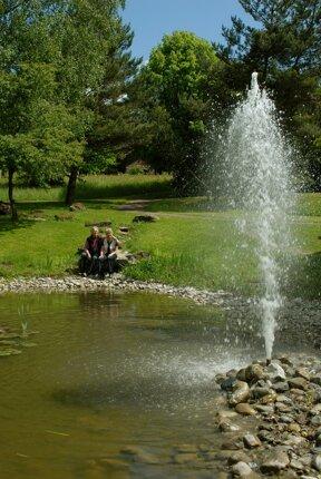 Teich mit Fontäne