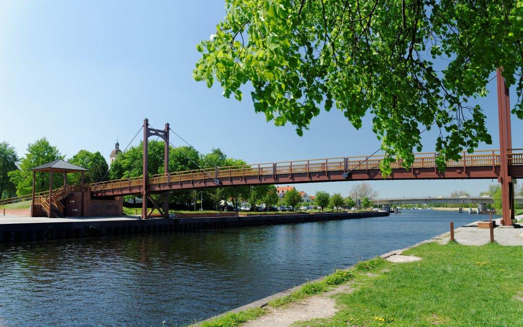 alte Brücke in Anklamm