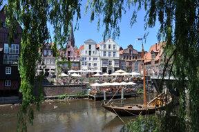Fluss Ilmenau in Lüneburg