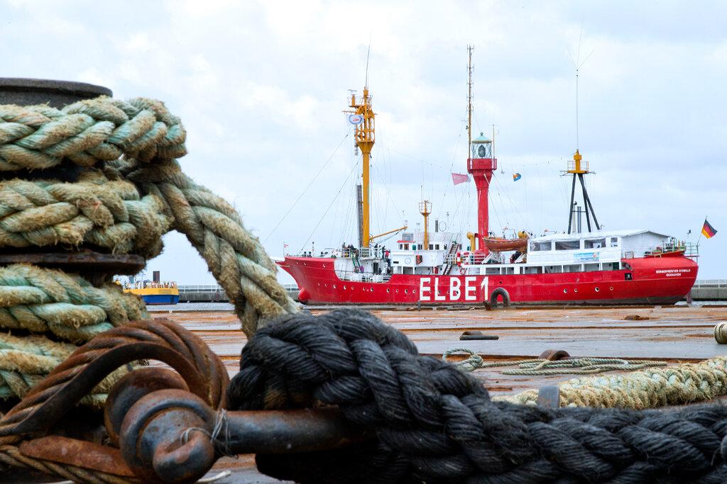Feuerschiff auf der Elbe