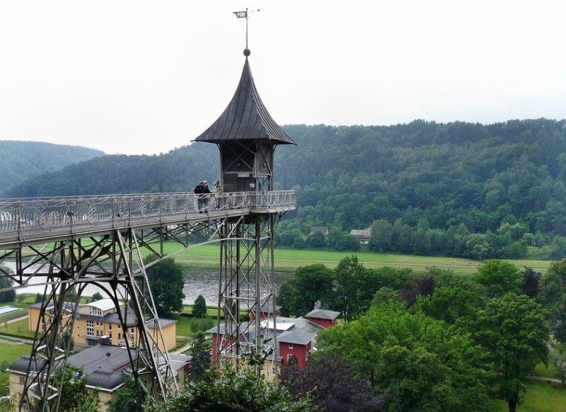 Blick vom Historischen Aufzug Bad Schandau