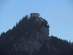 Burg Falkenstein von unten