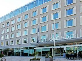 Außenansicht des Norsee Hotels in Bremerhaven.