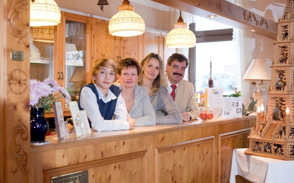 Großrückerswalde Landgasthof Wemmer Familie Rezeption