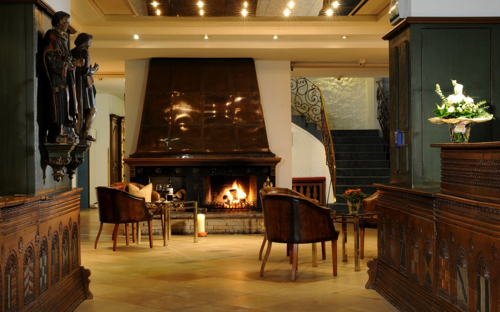 BEST WESTERN PREMIER Hotel Krautkrämer Münster Bar Lobby Kamin