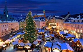Weihnachtsmarkt in Annaberg-Buchholz im Erzgebirge
