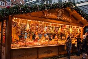 Weihnachtsmarkt-Stand in Lüneburg
