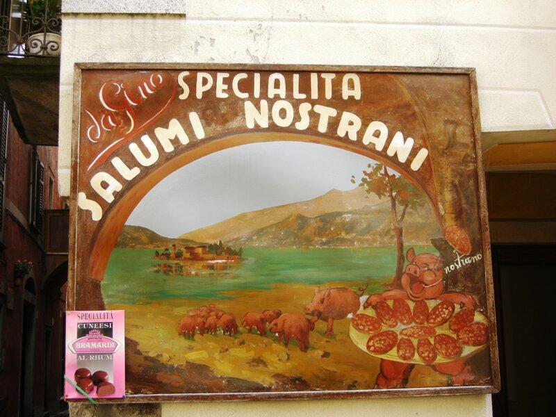 Poster einheimischer Salamispezialitäten