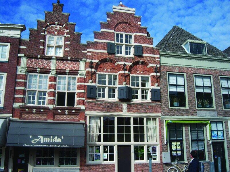 typische Häuserfassaden in Dordrecht