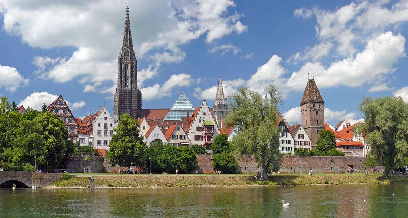Panoramaausschnitt von Ulm