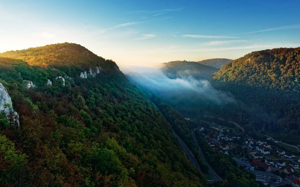 Blick auf Alptrauf in der Schwäbischen Alp