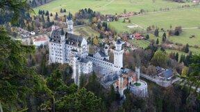 Schloss Neuschwanstein von oben