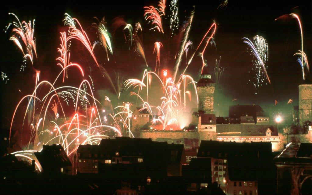 Feuerwerk über Nürnberg