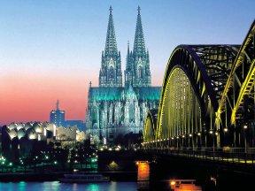 Köln panorama bruecke