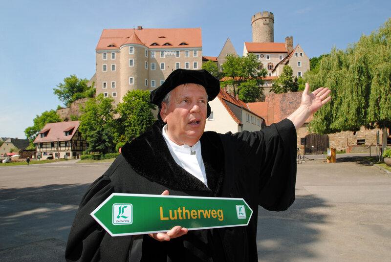Martin Luther auf dem Lutherweg in Sachsen