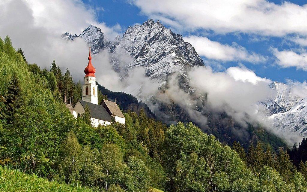Wallfahrtskirche Kaltenbrunn in Kaunertal in Österreich