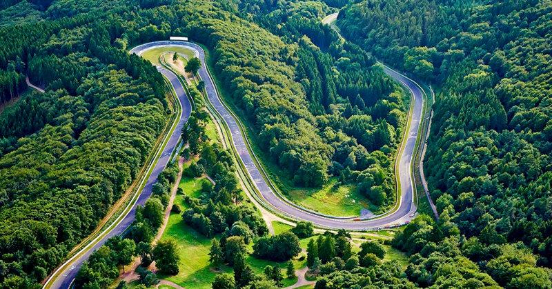 Vogelperspektive auf den Nürburgring