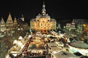 Abendstimmumg auf dem Weihnachtsmarkt Lüneburg