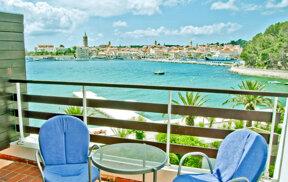 Blick Balkon Meerseite