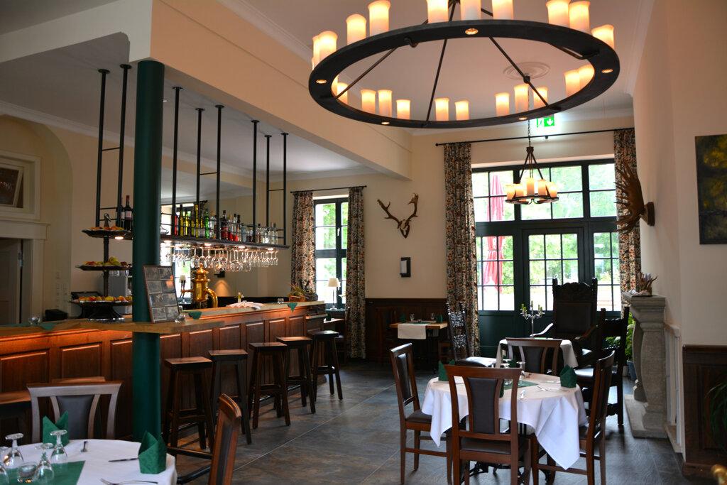 Neustrelitz Hotel Wildhof Restaurant Kronleuchter