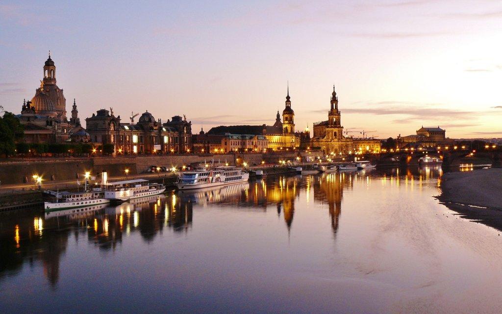 Dresden beim Sonnenuntergang