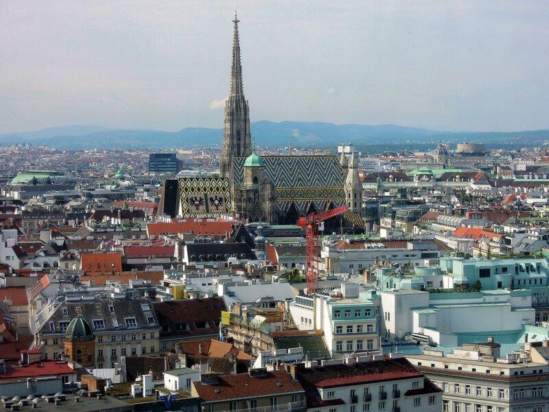 Wien von Oben mit Stephansdom