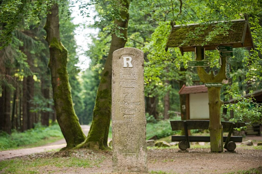 Bad Liebenstein Rennsteig-Grenzstein