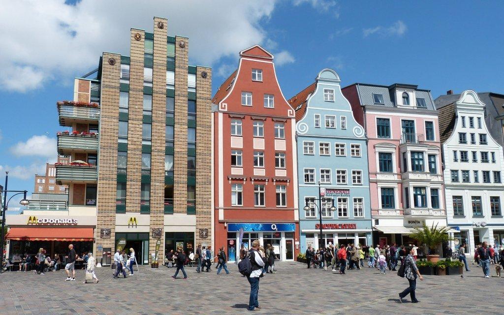 Backstein-Giebelhäuser in Rostock