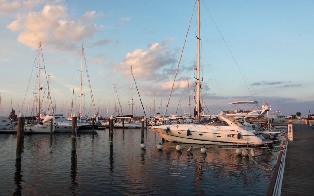 Hafen an der italienische Adria