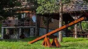 Ferienhäuser von Außen