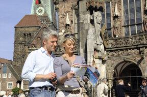 Paar mit Citymap Bremen