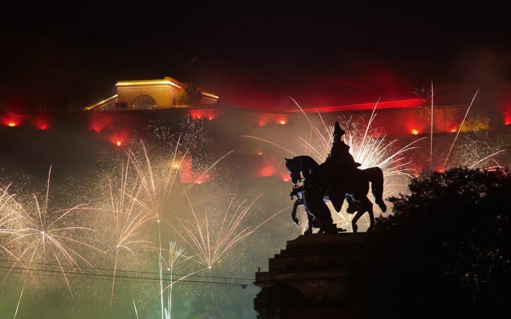 Feuerwerk am Deutschen Eck