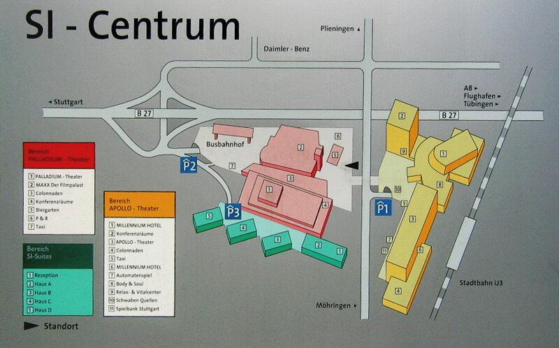 Stuttgart SI Centrum Informationstafel