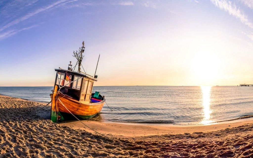 Fischerkahn am der polnischen Küste