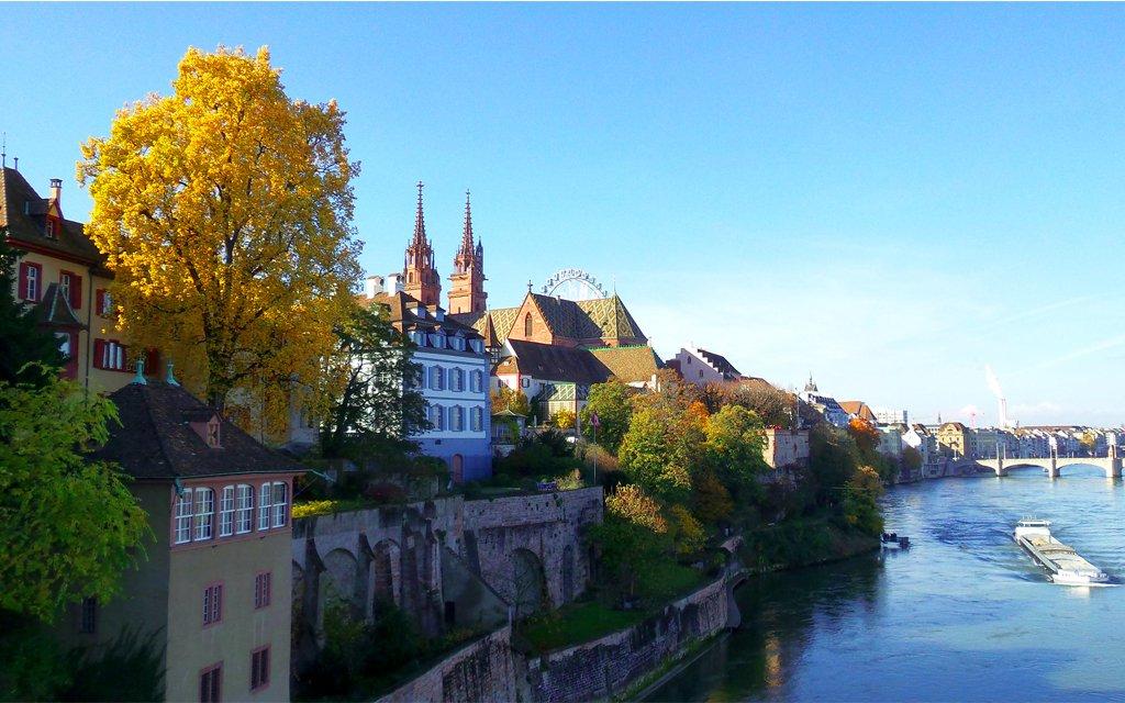 Blick auf Münster in Basel am Rhein