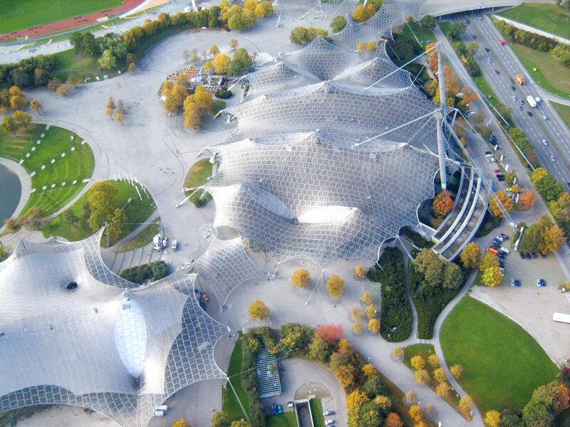 Luftaufnahme Olympiahalle München