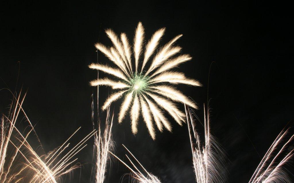 Feuerwerk in Sachsen