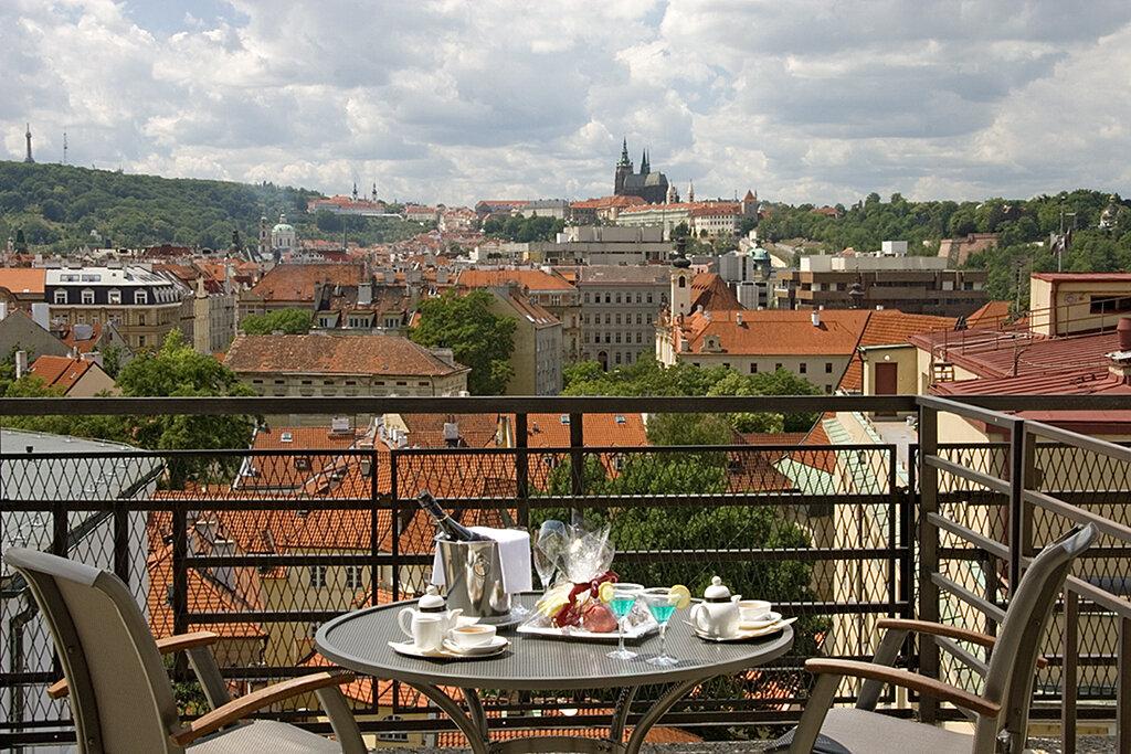 Prag Clarion Hotel Old Town Apartment Terrasse