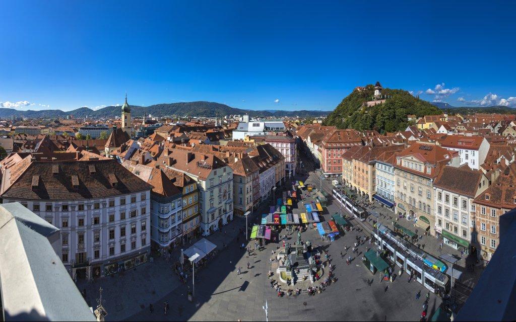 Dächerlandschaft Graz/Österreich