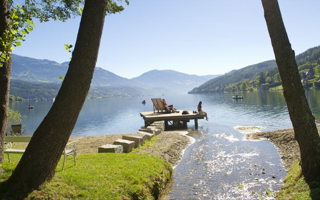 Steg am Millstätter See in Kärnten