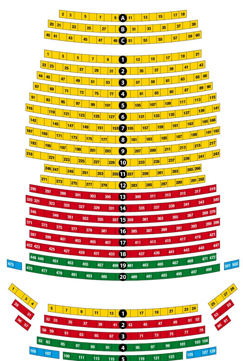 Saalplan Päpstin Schlosstheater
