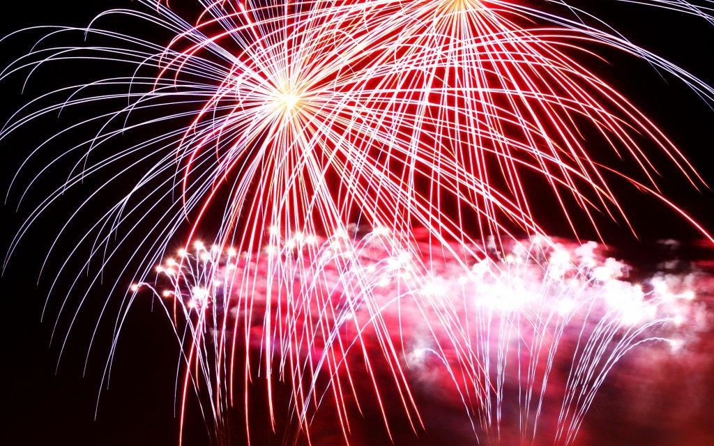 Feuerwerk in Bremen zu Silvester