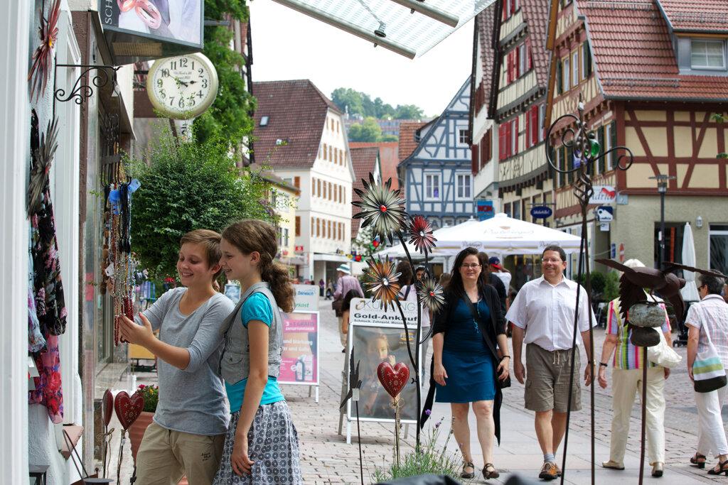 Einkaufsmeile Lederstraße c Stadt Calw