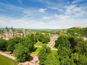Fulda Dom Schlossgarten Orangerie Panorama