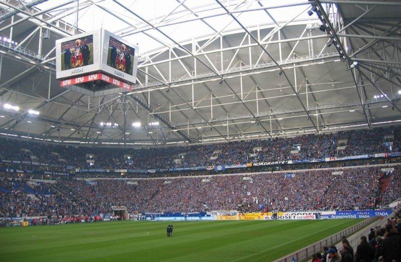 Veltins-Arena Stadion von innen