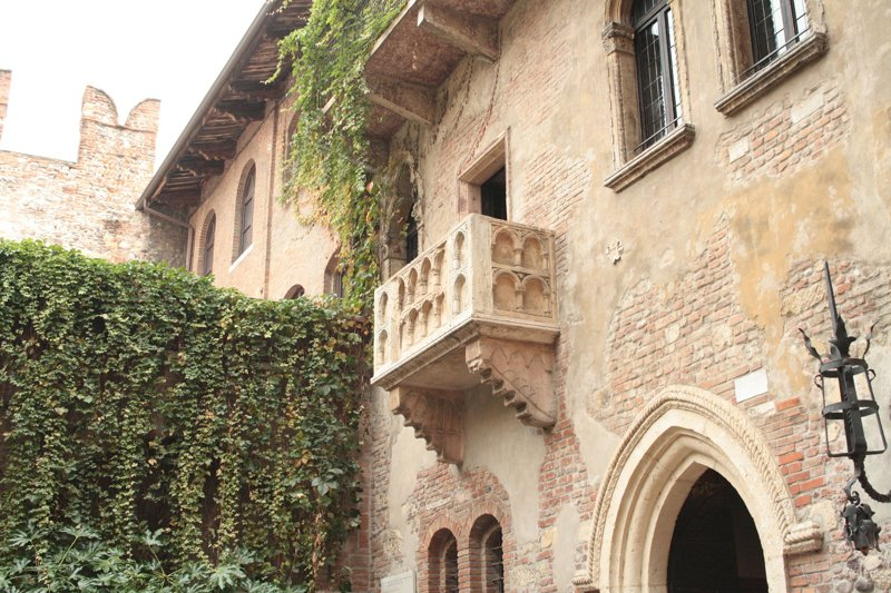 Casa Capuletti, Julia's Balkon von Romeo und Julia