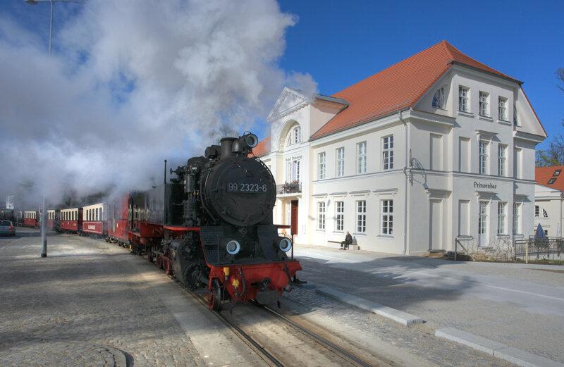 Schmalspurbahn Molli Bad Doberan Heiligendamm am Tag