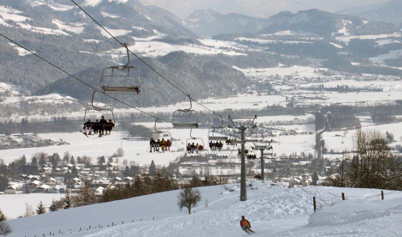 Hocheckbahn im Winter