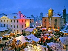 Wintermärchen auf der Festung Königstein